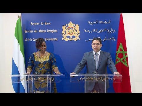 M. Bourita salue la solidarité et la coopération fructueuse entre le Maroc et la Sierra Leone
