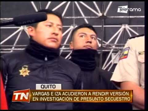 Vargas e Iza acudieron a rendir versión en investigación de presunto secuestro