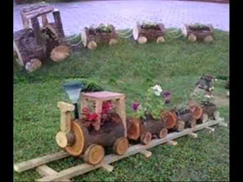Jardines decorados troncos videos videos relacionados - Troncos para jardin ...