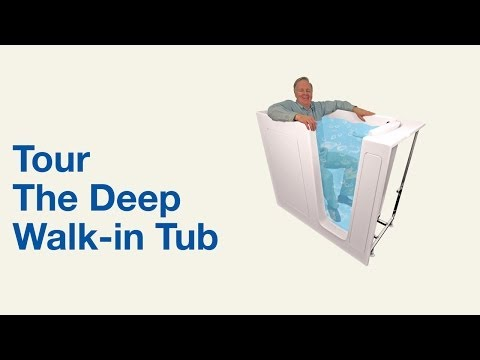 video:Deep Walk in Tub for Luxurious Bathing -  Bliss Tubs
