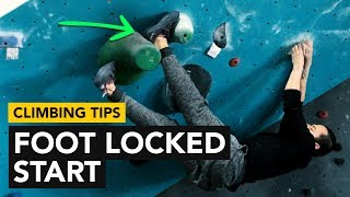 Rock Climbing Tips: Foot Locked start with a dead point finish crux by  rockentry