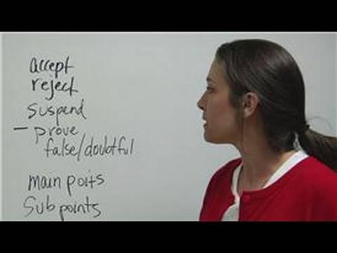 Debate Tips & Advice : Debate Tips: Outline Main Points