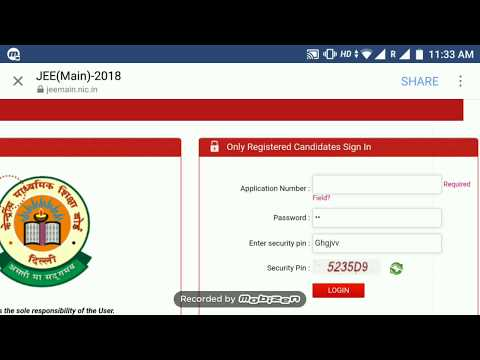 JEE Main 2018 Admit Card download