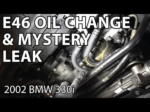 E46 Oil Change And Mystery Leak