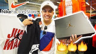 THE NIKE OUTLET OUTFIT CHALLENGE!! (CRAZY DEAL ON THEM!)!