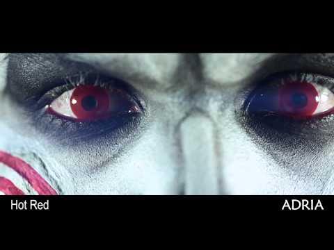 Crazy Hot red - цветные линзы Adria, видео в линзах