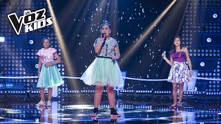 Mariangeles, Danna y Mari cantan Nunca Voy A Olvidarte - Batallas   La Voz Kids Colombia 2018