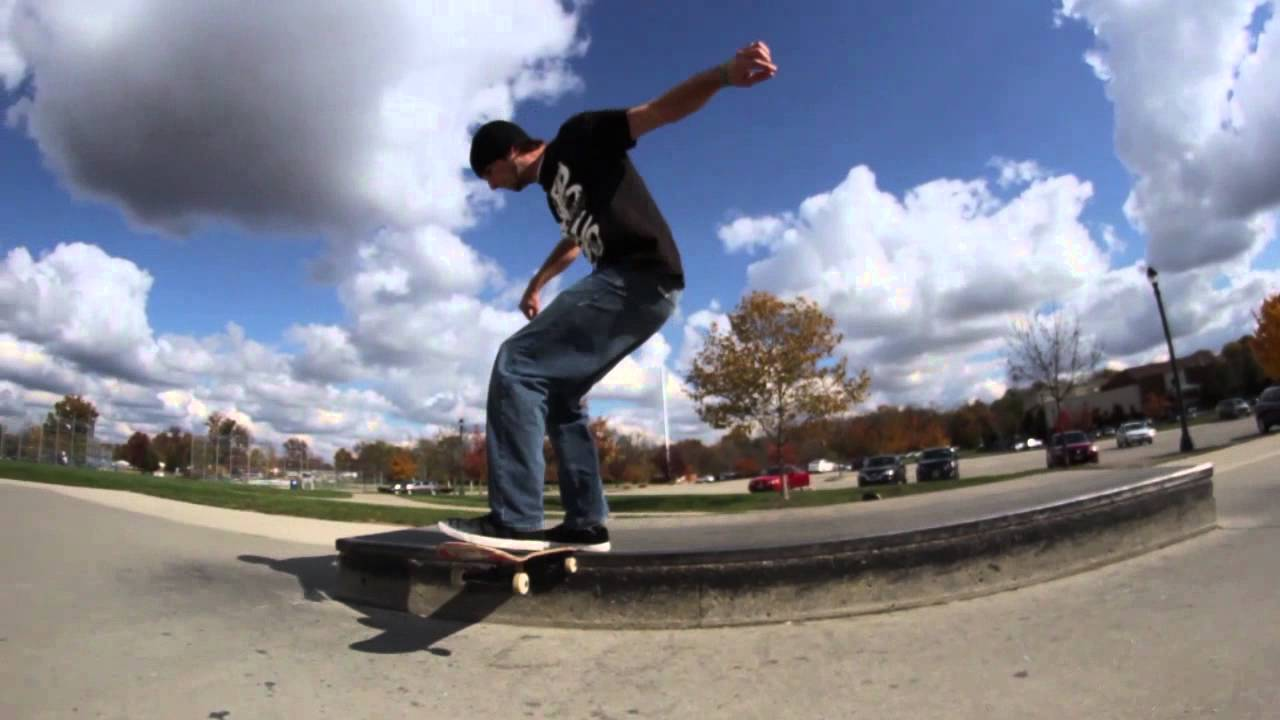 Skater's First Fakie Big Flip Tailslide!