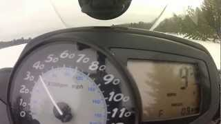 9. 2006 Polaris Fusion 600HO Speed Run