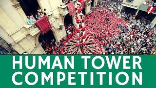 Tarragona Spain  city photos : HUMAN TOWER competition (Castell): breathtaking festival in Tarragona, Spain