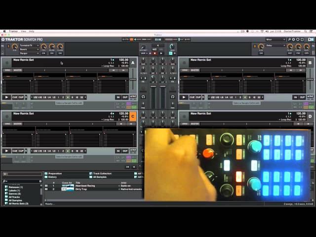 Manejar 4 remix decks con una X1