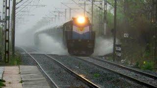 Video Train under HEAVY RAIN : WATER STORM : Ahmedabad Chennai Express with Velociti : INDIAN RAILWAYS MP3, 3GP, MP4, WEBM, AVI, FLV Januari 2019