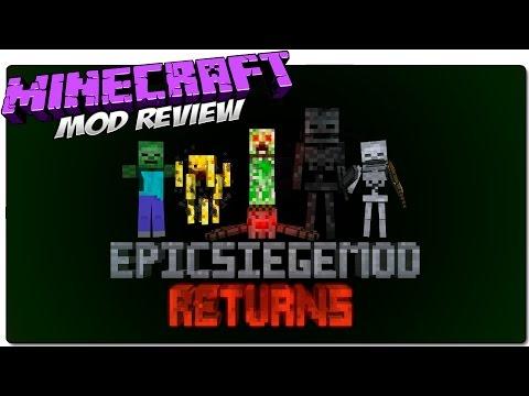 EPIC SIEGE MOD MINECRAFT 1.7.10 MOD REVIEW ESPAÑOL | Los mobs más listos y agresivos de Minecraft