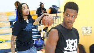 Quavo, Bol Bol (Manute Bol's Son) and Shareef O'Neal (Shaq's Son) linked up again for another game on Friday in Los Angeles, CA Jack McClinton, Shaqir O'Nea...