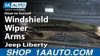 How To Install Replace Windshield Wiper Arms 2002-06 Jeep Liberty