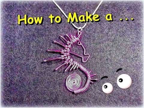 Como Hacer Caballito de Mar en Alambre//How to make Wire Sea Horse. By Puntoy Alambre