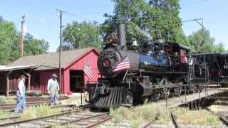 Jamestown (CA) United States  city images : Steam Locomotive on Turntable to Roundhouse