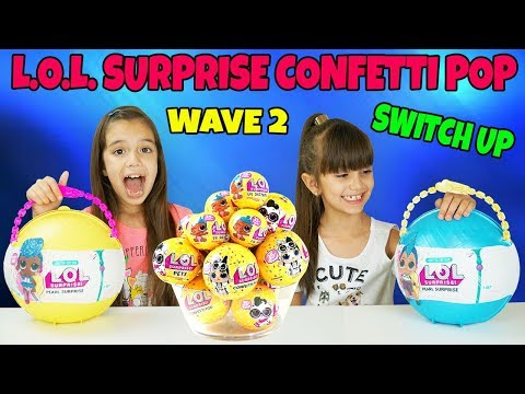 GIANT LOL SURPRISE CONFETTI POP WAVE 2 SWITCH UP CHALLENGE