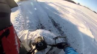 5. Polaris 850 Scrambler Snow Drift Bashing