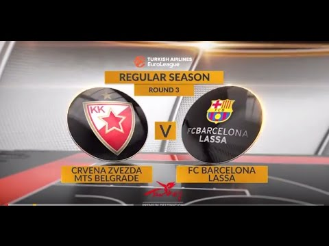 EuroLeague Highlights RS Round 3: Crvena Zvezda mts Belgrade 76-65 FC Barcelona Lassa