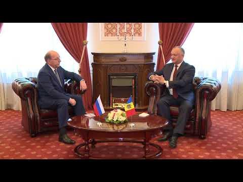 Președintele Republicii Moldova a primit scrisorile de acreditare din partea Ambasadorului Extraordinar şi Plenipotențiar al Federaţiei Ruse în țara noastră