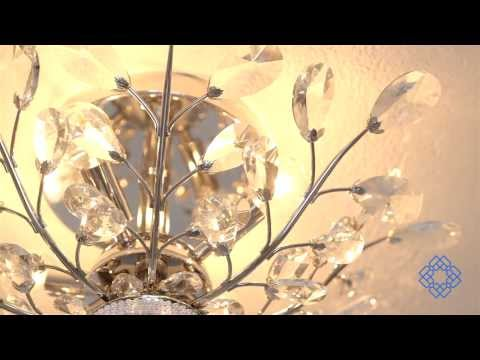 Video for Orchid Chrome Four-Light 20-Inch Flush Mount with Swarovski Spectra Clear Crystal