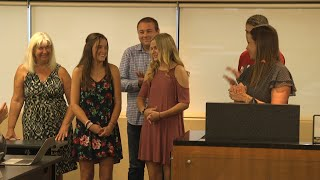 Union Board Members Recognize Student Athlete Standouts