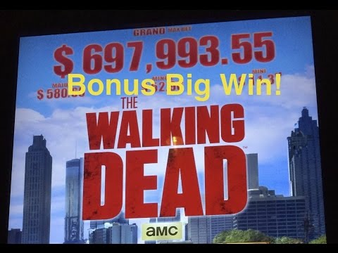 The Walking Dead Slot Machine Bonus-MAJOR Win!