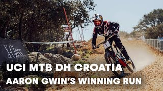 UCI MTB 2018: Aaron Gwin mastered the DH race in Croatia. by Red Bull