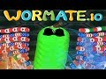 WORMATE.IO - ► 1 BIG WORM VS 1001 NOOBS ► Gameplay Like Slither MasterSP - How To Troll