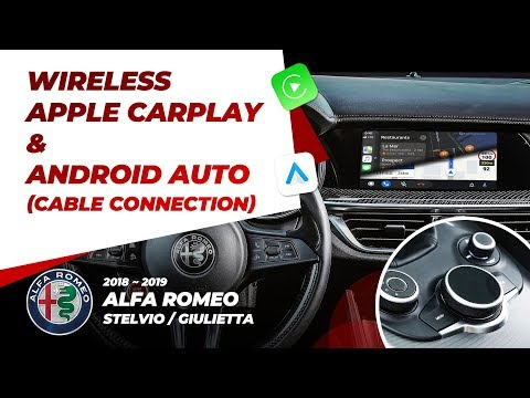 Alfa Romeo Wireless CarPlay & Android AUTO (Stelvio / Giulue…