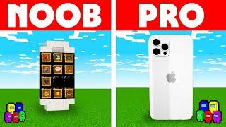 Among Us Vs Minecraft - NOOB VS PRO: IPHONE 12 BUILD CHALLENGE! Minecraft Among us Animation