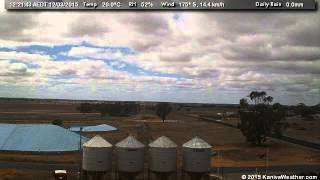 12 March 2015 - East Facing WeatherCam Timelapse - KanivaWeather.com