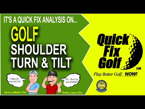 Golf Swing Shoulder Turn Tilt