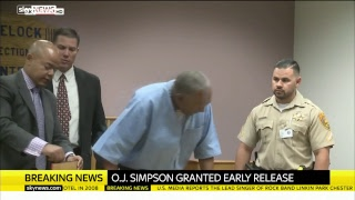 OJ Simpson's parole hearing decision:  The US parole board are voting to decide if Simpson will be granted his freedom.Their decision is expected to be announced shortly.