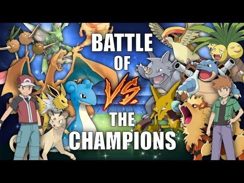Battle of the Champions (RED vs BLUE) - Pokemon Battle Revolution (1080p 60fps)