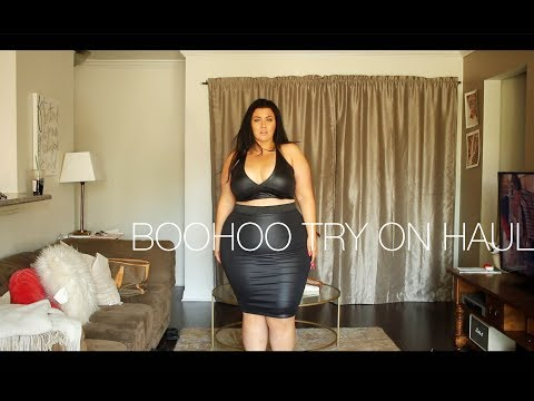 PLUS SIZE FASHION TRY ON HAUL | BooHoo Haul - LOTS of PLUS SIZE BODYSUITS