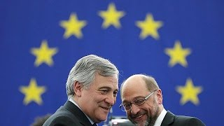 Scheidender EU-Präsident Schulz gratuliert seinem Nachfolger Tajani