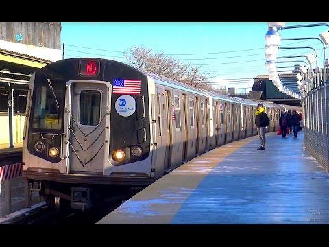 ⁴ᴷ N Train Temporary Platform Footage (видео)