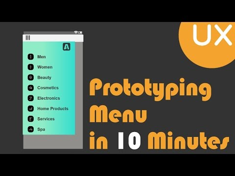 Prototyping Menu in 10 minutes | Axure RP 8