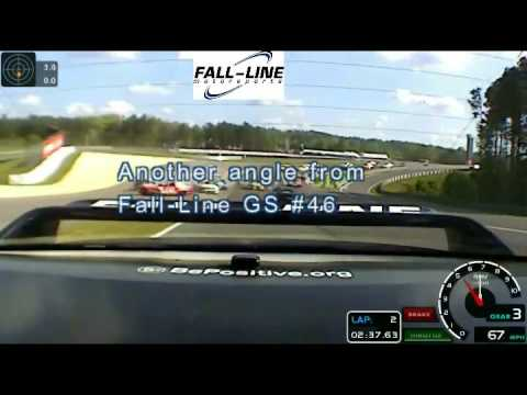 Grand-Am Continental Challenge Barber  2012 Turn 1 Melee from Fall-Line Motorsports view