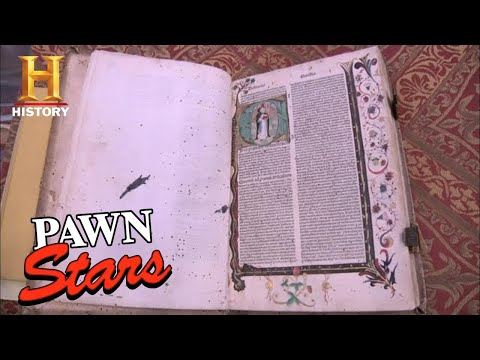 Pawn Stars: SUPER RARE & SUPER OLD 1484 BOOK (Extended Cut) (Season 7) | History