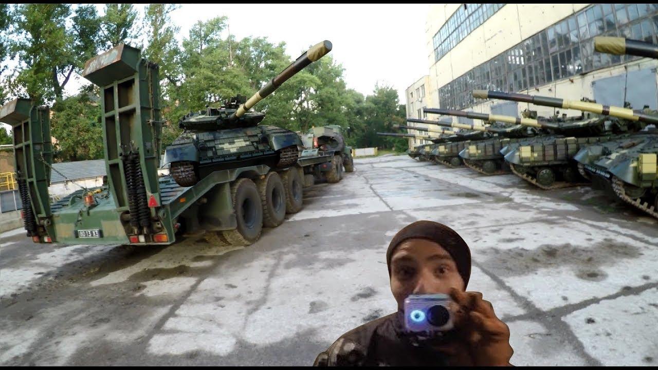 Видео с брошенной украинской танковой базы под Харьковом