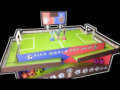 MESSI Vs RONALDO FOOTBALL CARDBOARD GAME | How To Make Football Game From Cardboard | FIFA WORLD CUP