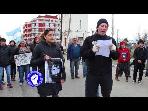 Reclamo de justicia por Santiago Maldonado en Rio grande