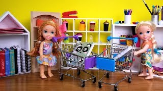 Video Back to School shopping ! Elsa and Anna toddlers buy supplies from store - Barbie is seller MP3, 3GP, MP4, WEBM, AVI, FLV Januari 2019