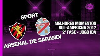 Siga - http://twitter.com/sovideoemhdCurta - http://facebook.com/sovideoemhdCONMEBOL SUL-AMERICANA 20172ª Fase - Jogo IdaIlha do Retiro, Recife, PE, Brasil