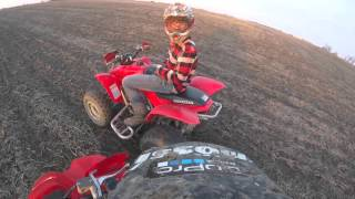 10. Kid almost crashes his Honda Trx 250ex