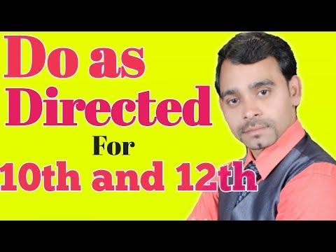 "Very important ""Do as Directed for 10th and 12th by Yashpal sir
