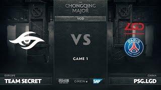 Team Secret vs PSG.LGD, Game 1, The Chongqing Major Group B